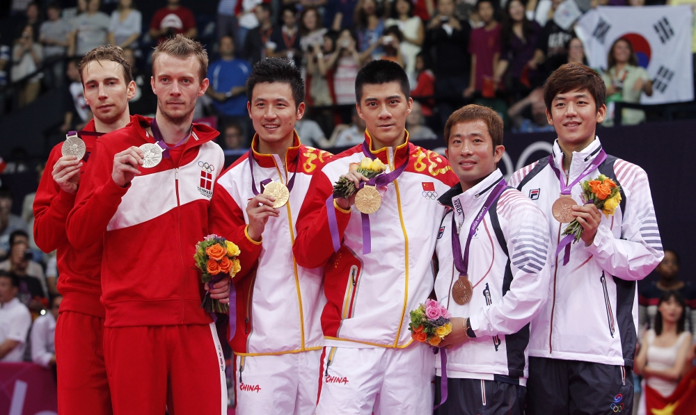 Mens Doubles podium
