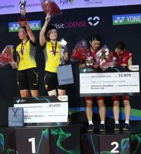 Denmark Open 2014_day6_Women's Doubles podium