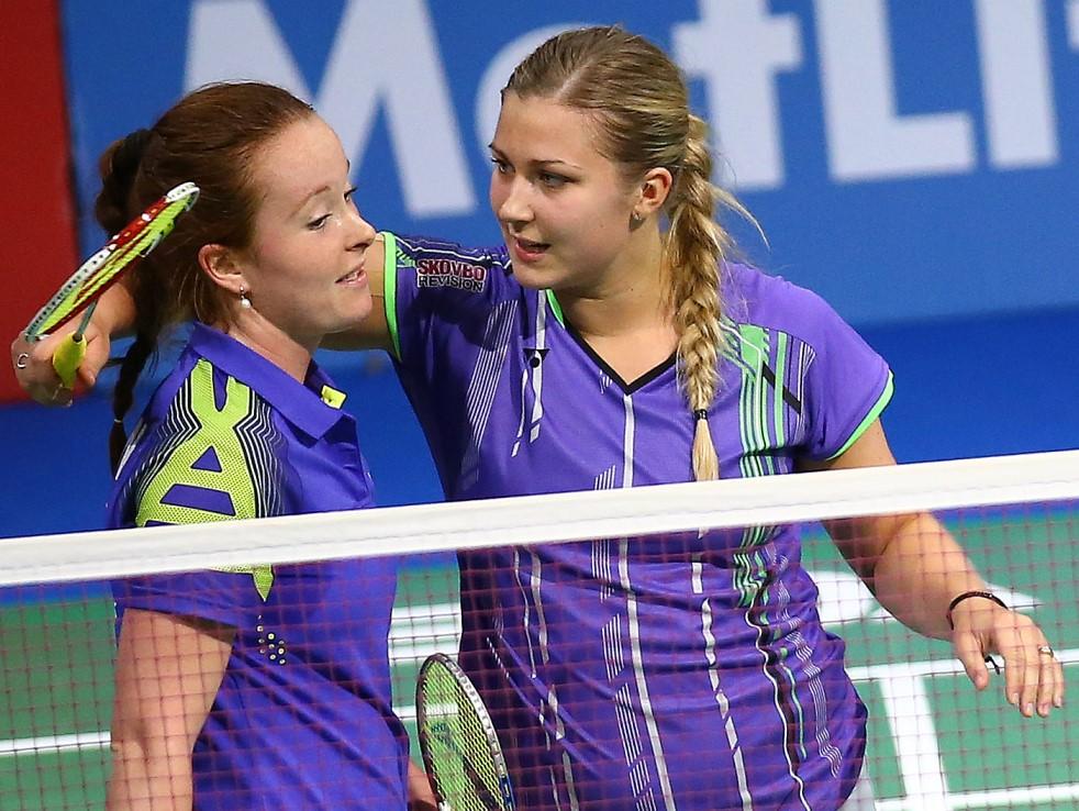 Denmark Open 2015 - Day 1 - Amanda Madsen & Isabella Nielsen of Denmark