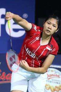 Denmark Open 2015 - Day 2 - Lindaweni Fanetri of Indonesia