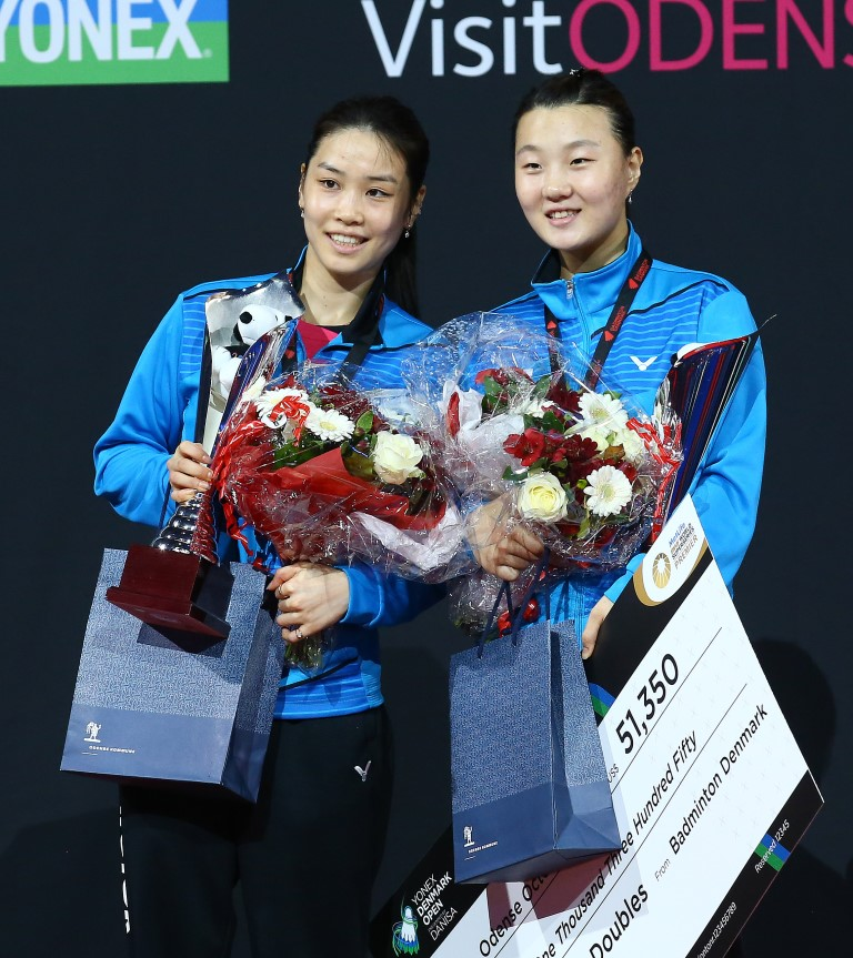 Denmark Open 2015 - Day 6 - Jung Kyung Eun & Shin Seung Chan of Korea