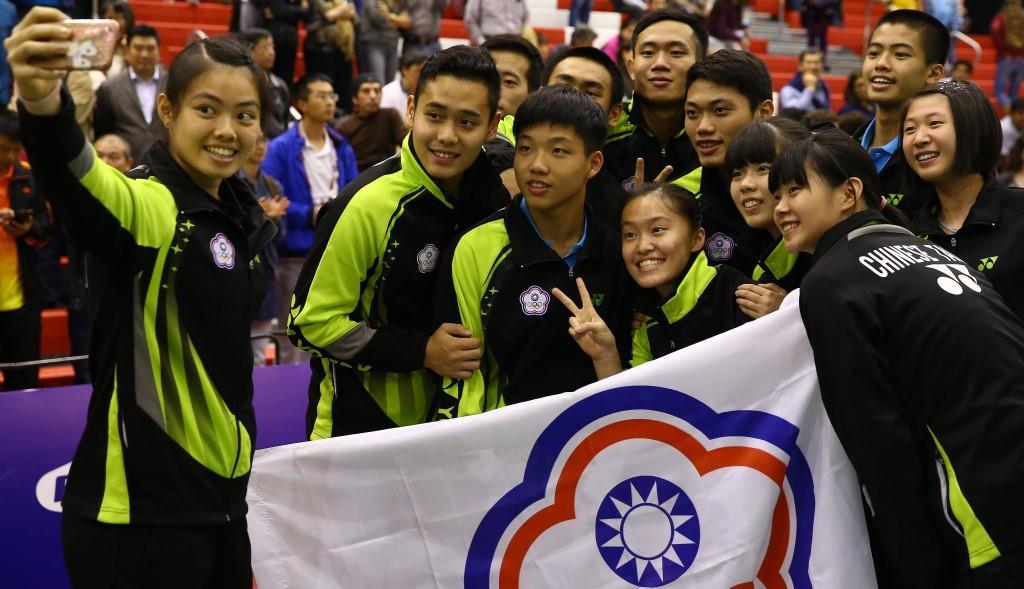 Suhandinata Cup - Day 5 - Chinese Taipei selfie
