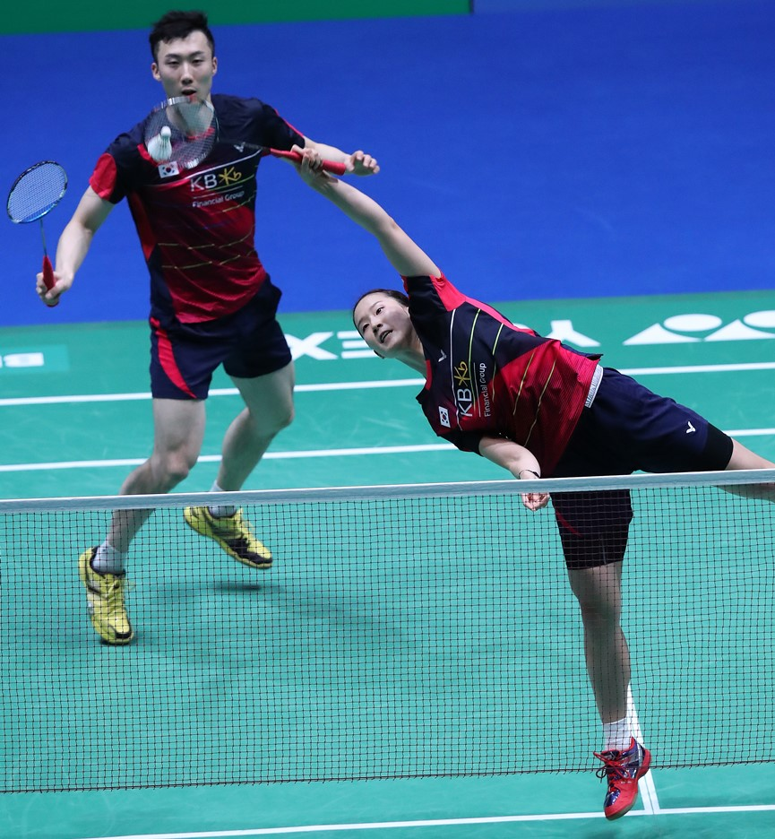 All England 2015 - Day 1 - Yoo Yeon Seong & Chang Ye Na of Korea