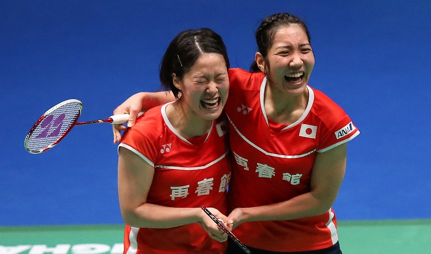 All England 2016 - Day 2 - Japanese Women's Doubles