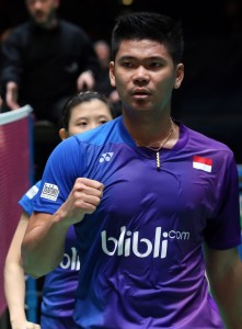 All England 2016 - Day 4 - Praveen Jordan & Debby Susanto of Indonesia