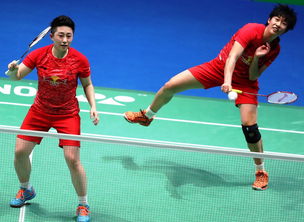 All England 2016 - Day 4 - Tang Yuanting & Yu Yang of China