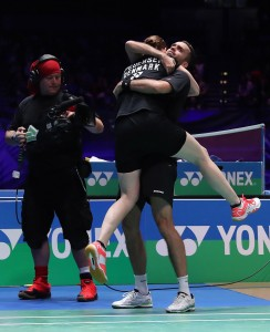 All England 2016 - Day 5 - Joachim Fischer Nielsen & Christinna Pedersen of Denmark