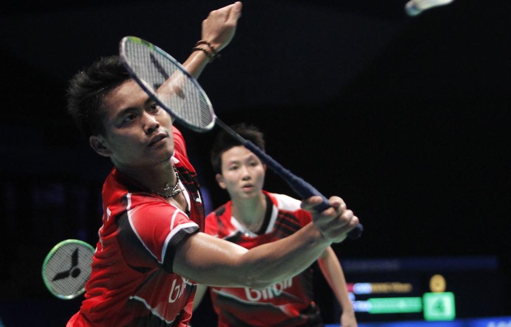 Asia Championships - Day 4 - Tontowi Ahmad & Liliyana Natsir of Indonesia