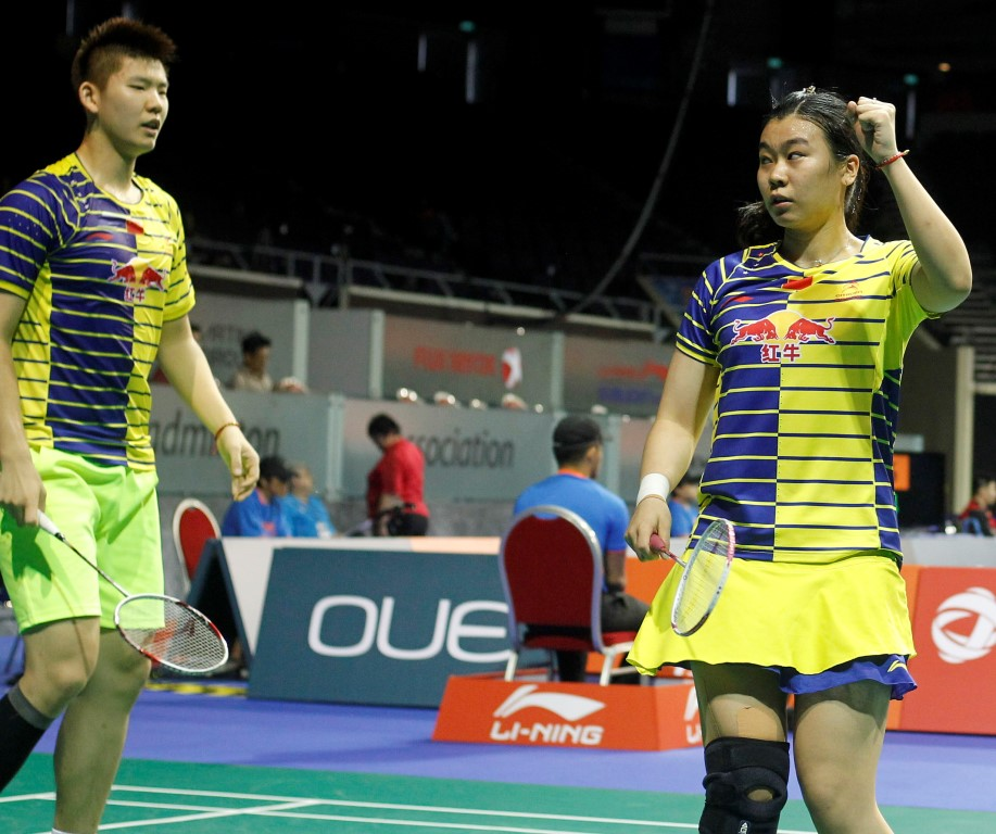 Singapore Open 2016 - Day 2 - Liu Yuchen & Tang Jinhua of China