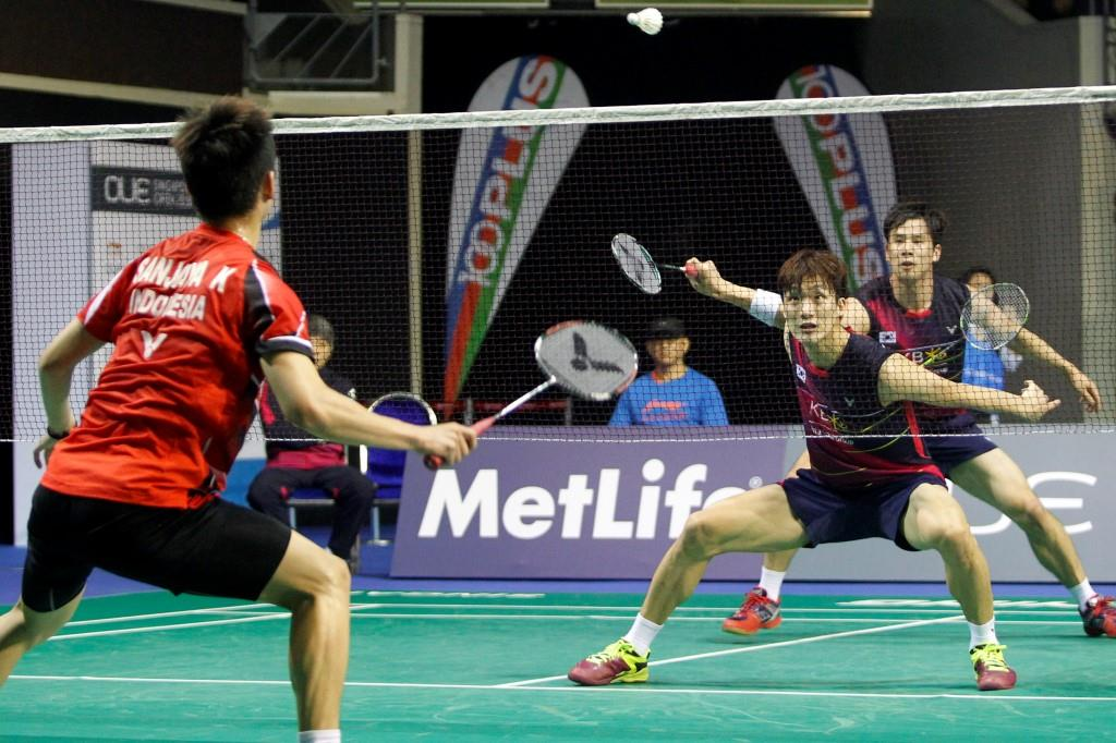 Singapore Open 2016 - Day 3 - Ko Sung Hyun & Shin Baek Cheol of Korea