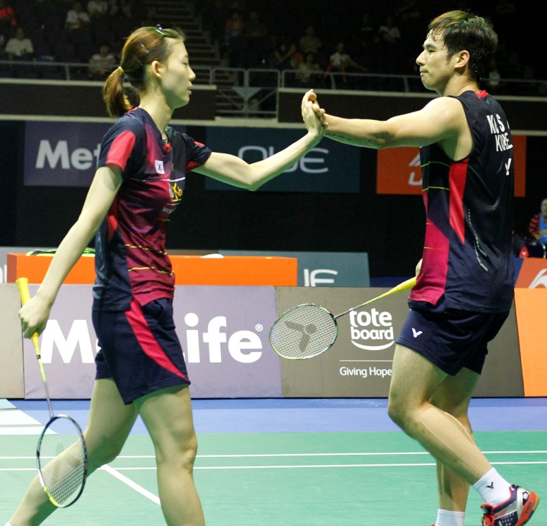 Singapore Open 2016 - Day 5 - Ko Sung Hyun & Kim Ha Na of Korea