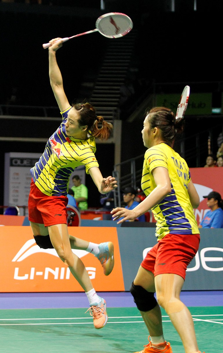Singapore Open 2016 - Day 5 - Tian Qing & Zhao Yunlei of China