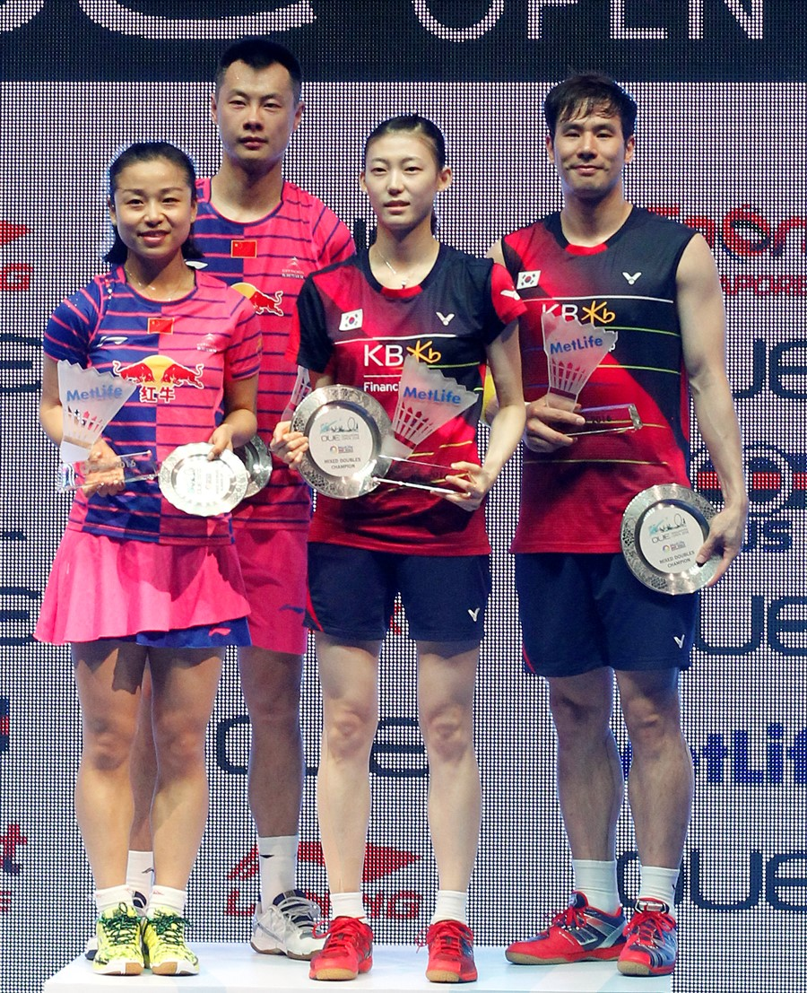 Singapore Open 2016 - Day 6 - Mixed Doubles presentation ceremony
