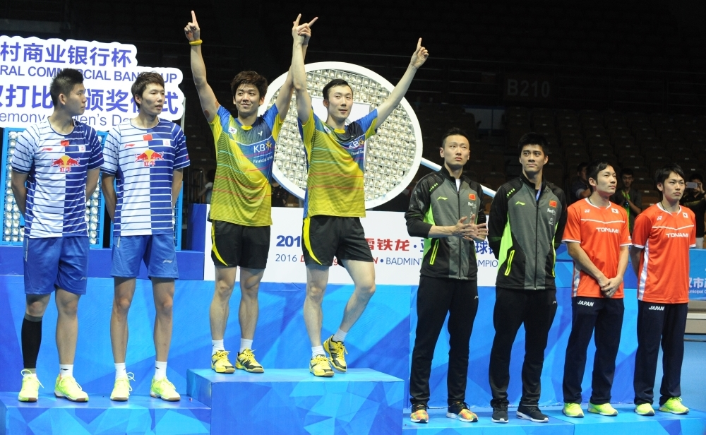 Asia Championships - Day 6 - Men's Doubles medallists