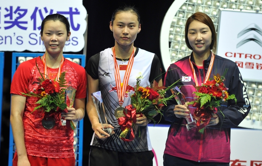 Asia Championships - Day 6 - Women's Singles medallists