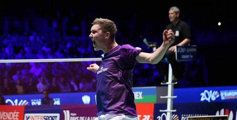 European Champs - Day 6 - Viktor Axelsen of Denmark
