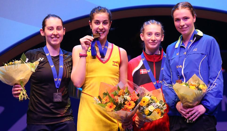 European Champs - Day 6 - Women's Singles medallists