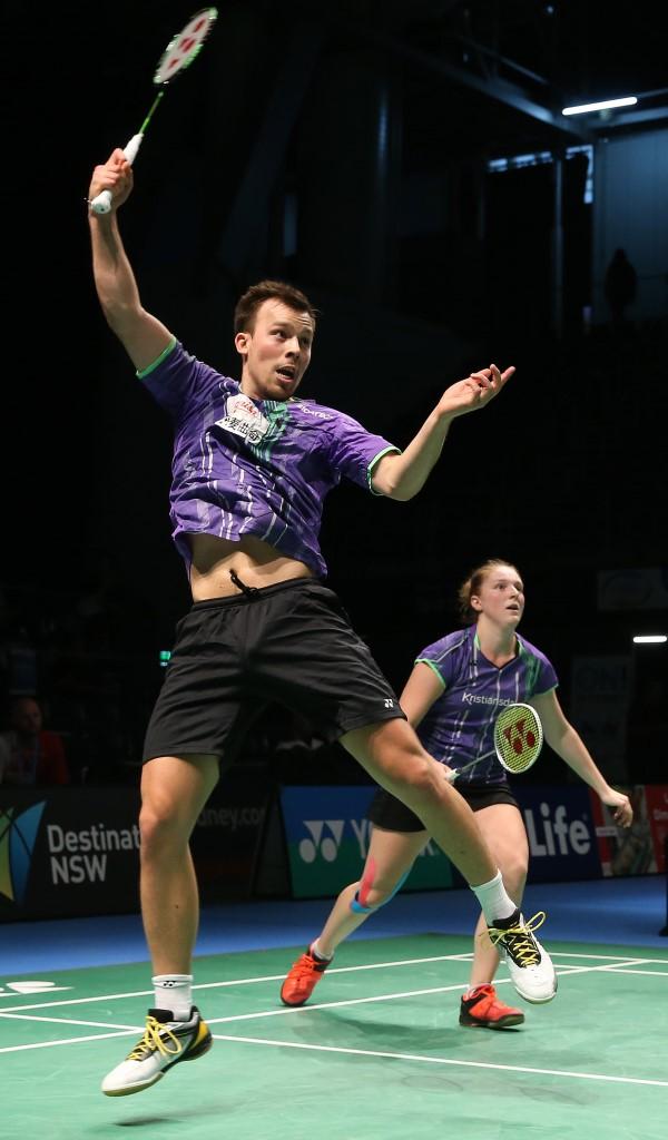 Australian Open 2016 - Day 2 - Anders Skaarup Rasmussen & Maiken Fruergaard of Denmark