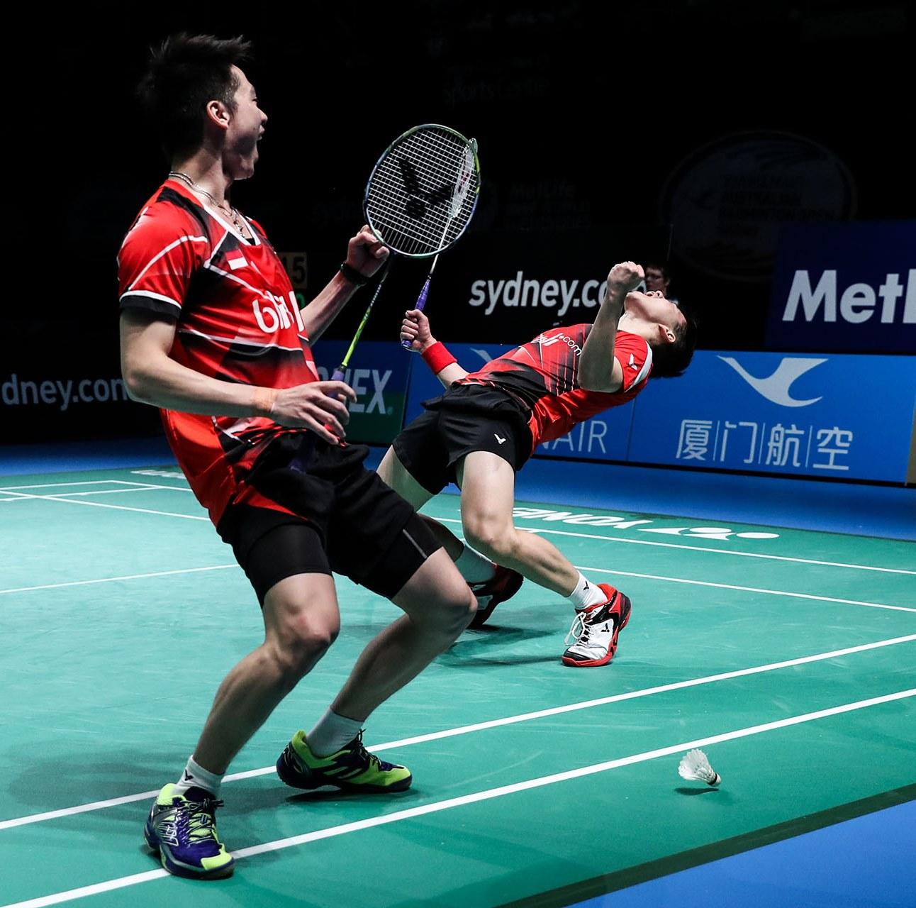 Australian Open 2016 - Day 6 - Marcus Fernaldi Gideon & Kevin Sanjaya Sukamuljo of Indonesia