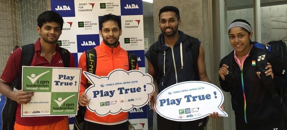 Indian players support the anti-doping campaign