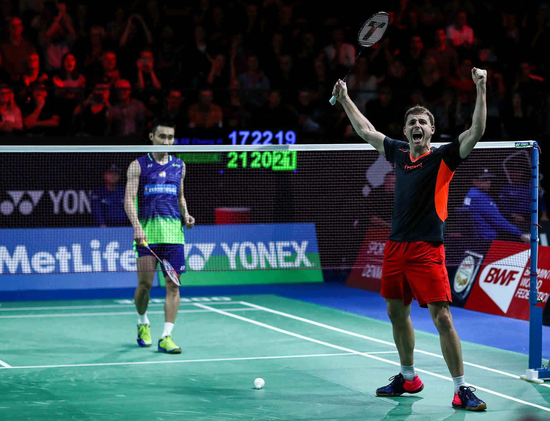 Brice Leverdez (right) and Lee Chong Wei