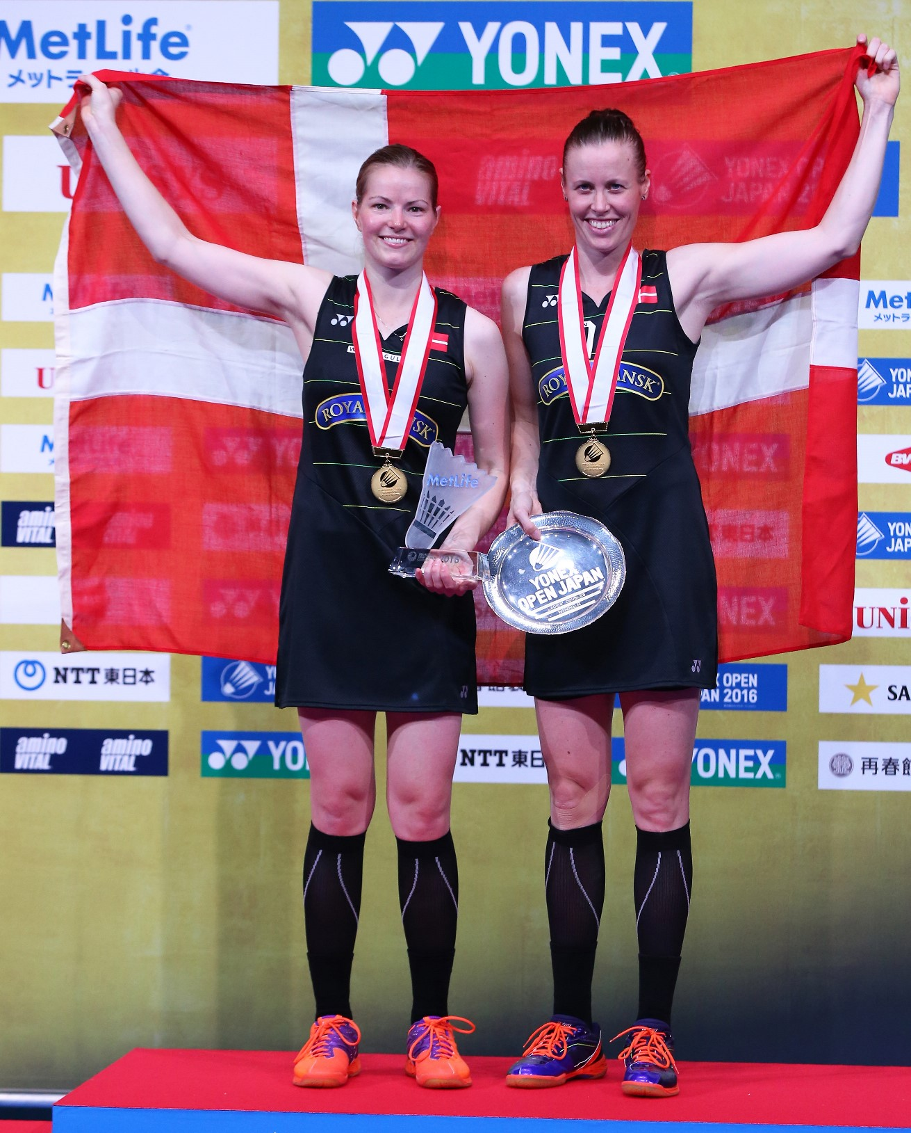 Kamilla Rytter Juhl (right) & Christinna Pedersen of Denmark