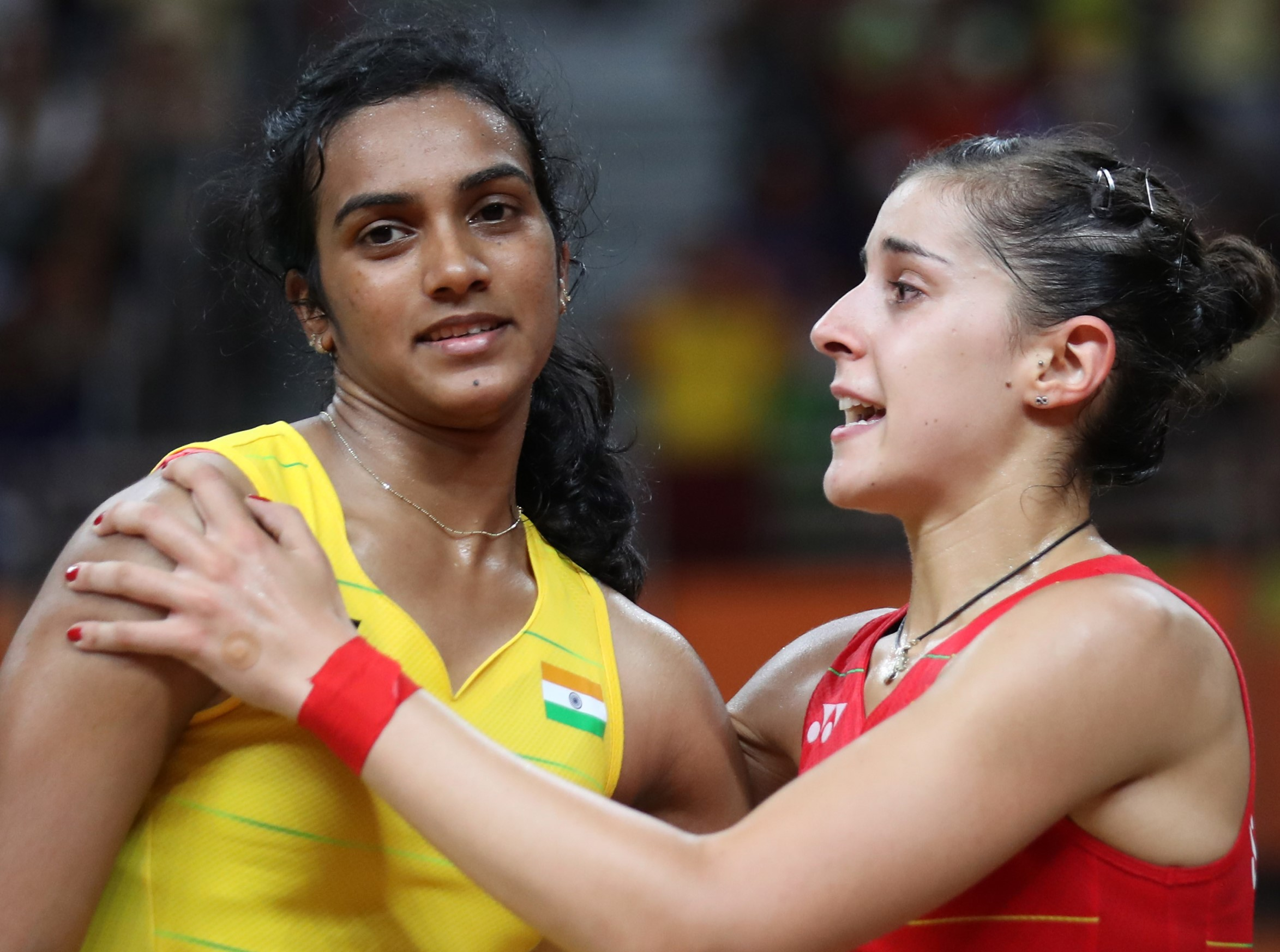 Carolina Marin (right) & PV Sindhu