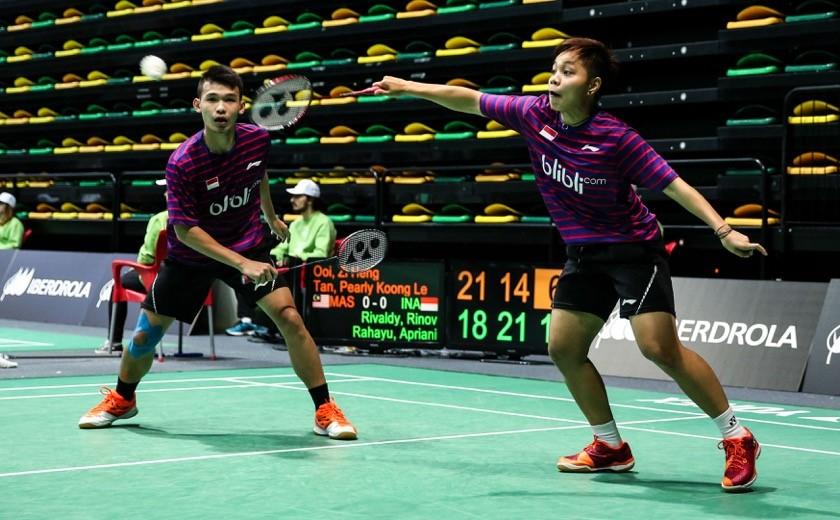 Rinov Rivaldy & Apriani Rahayu of Indonesia