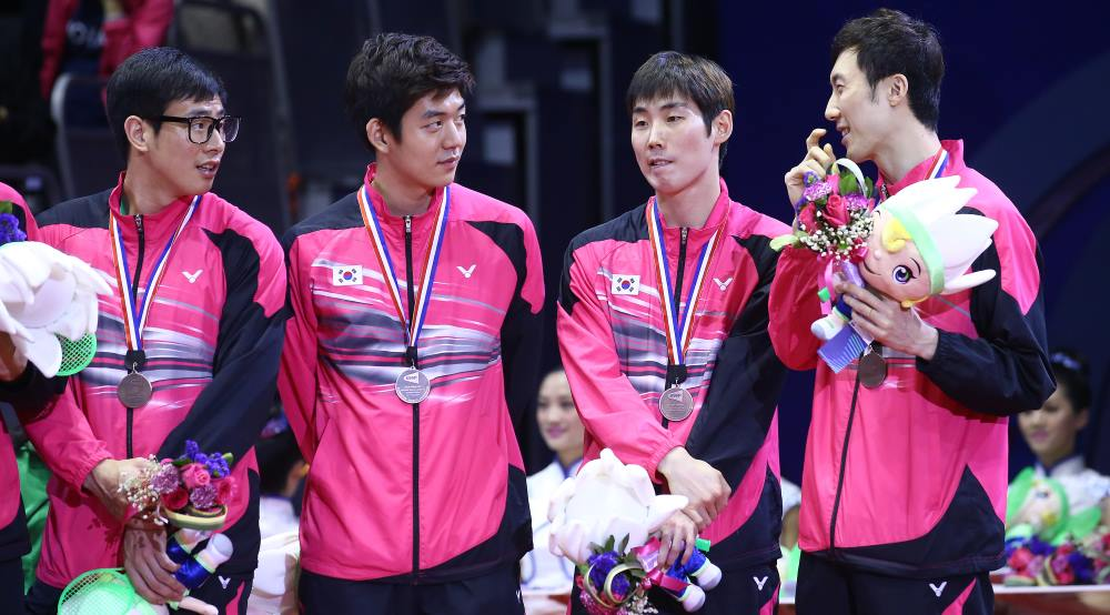 Korea podium